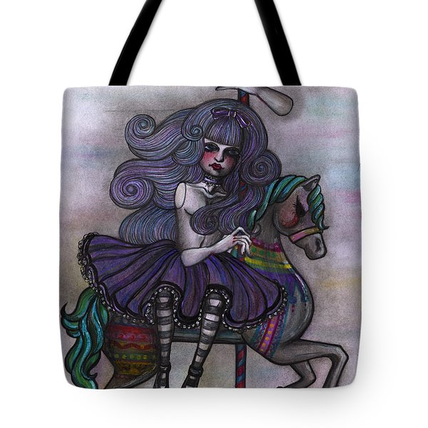 Alice And Merry-go-round Tote Bag
