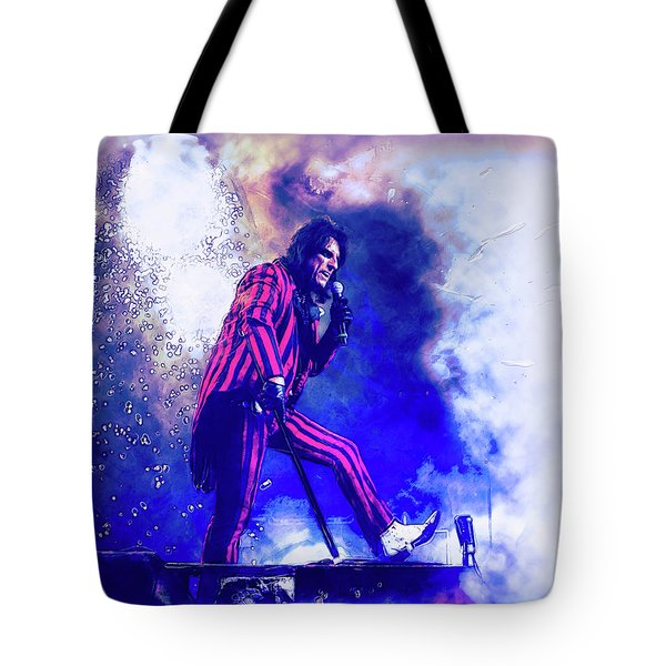 Alice Cooper On Stage Tote Bag