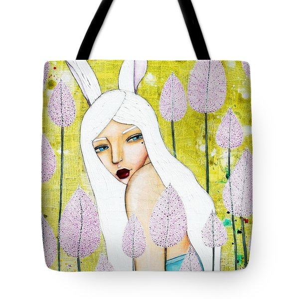 Tote Bag featuring the mixed media Alice In Oz by Natalie Briney