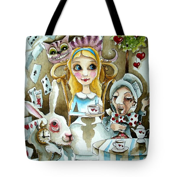 Alice In Wonderland 1 Tote Bag by Lucia Stewart