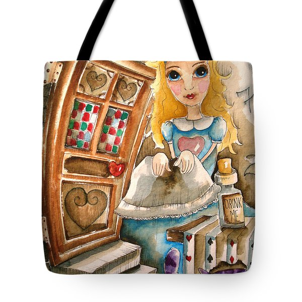 Alice In Wonderland 2 Tote Bag by Lucia Stewart