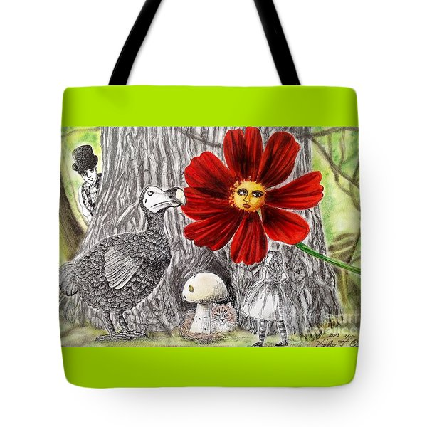 Alice In Wonderland 3 Tote Bag by Keiko Olds