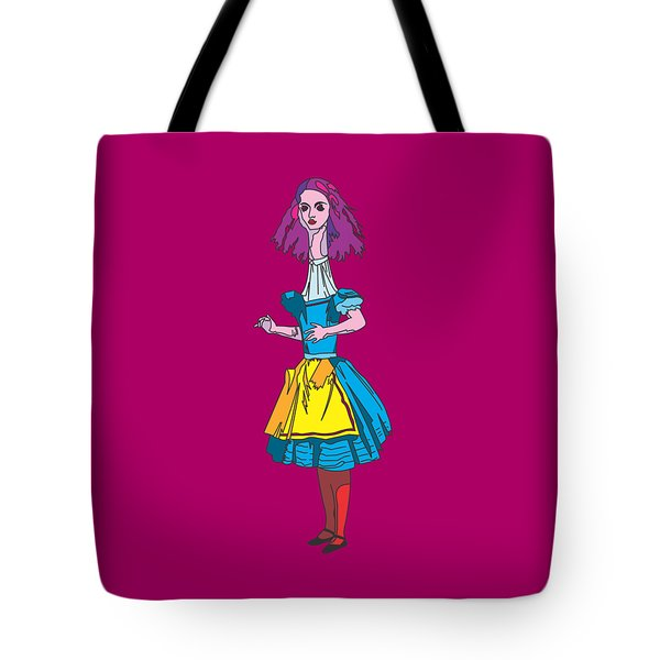 Alice In Wonderland - Alices Adventures In Wonderland - Ask Alice Tote Bag