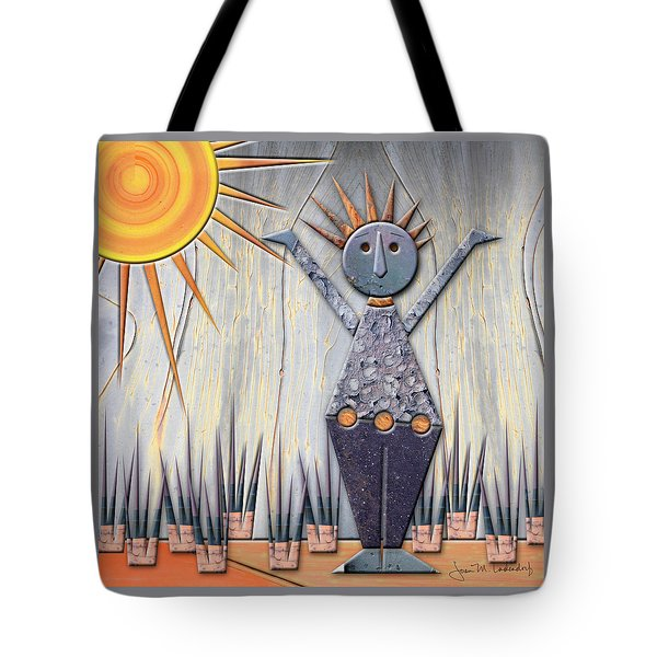 Alice The Goddess Of August Tote Bag by Joan Ladendorf