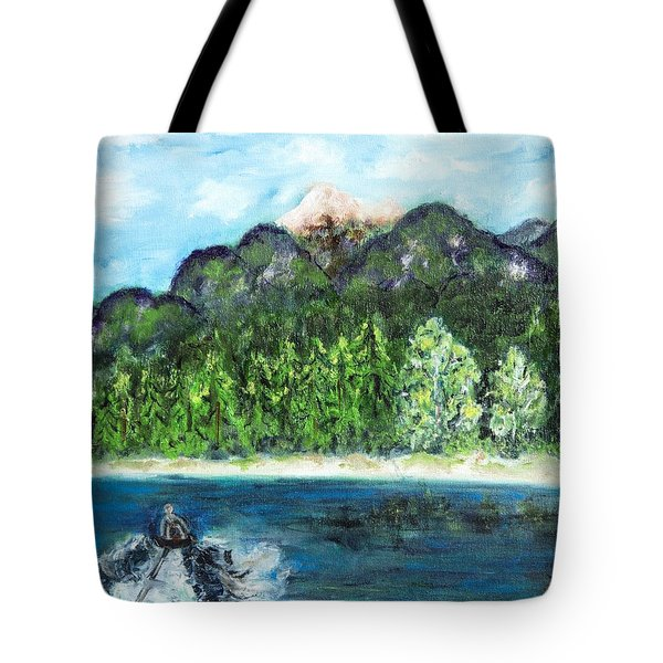 Alice Tubing On Hungry Horse  Reservoir Tote Bag