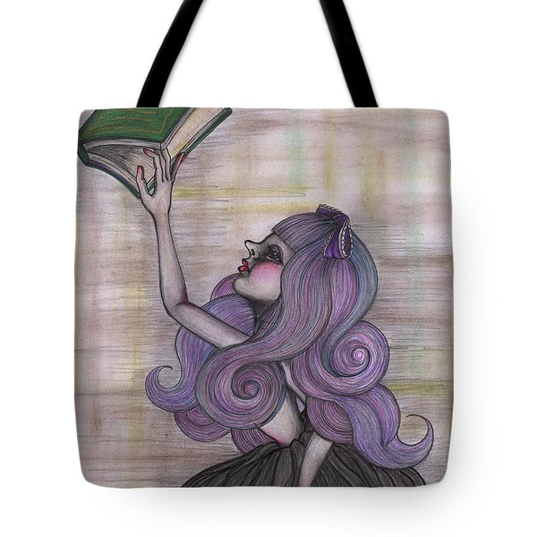 Alice With Old Book Tote Bag