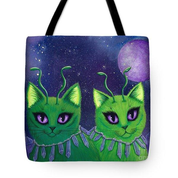 Alien Cats Tote Bag