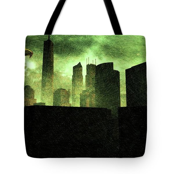 Alien City Tote Bag
