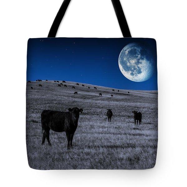 Alien Cows Tote Bag
