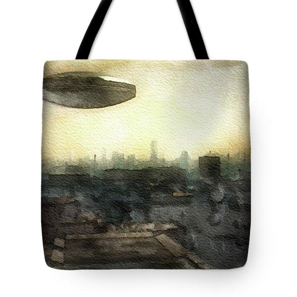 Alien Dawn Tote Bag