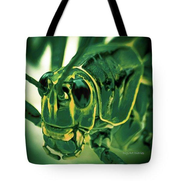Alien Tote Bag by DigiArt Diaries by Vicky B Fuller