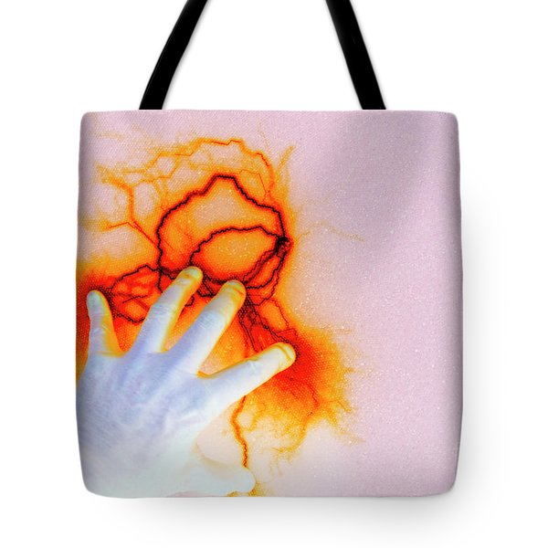 Tote Bag featuring the photograph Alien Encounter Outside Looking In by Paul W Faust - Impressions of Light