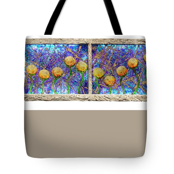 Alien Flowers Tote Bag
