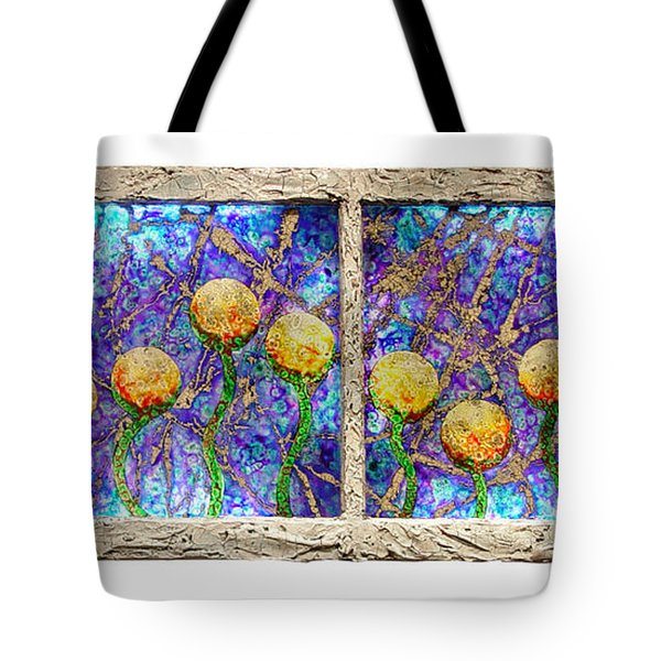 Alien Flowers Tote Bag