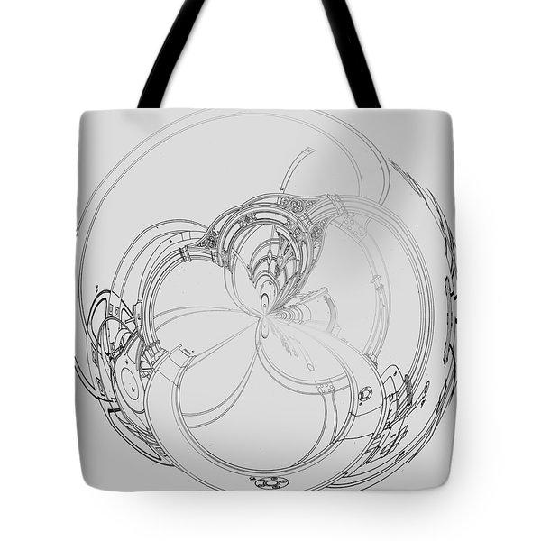 Tote Bag featuring the digital art Alien Flywheel by Robert G Kernodle
