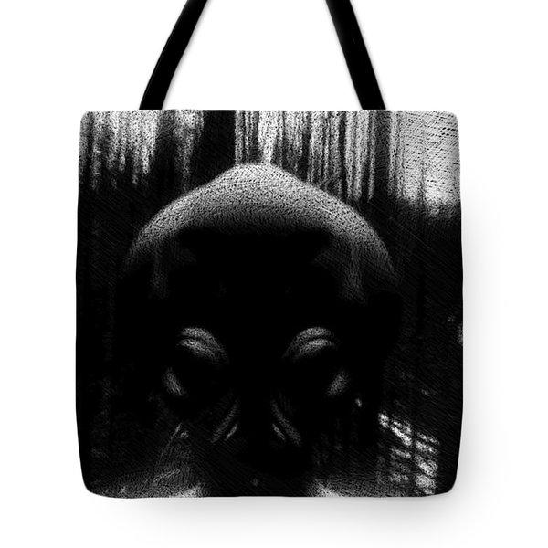 Alien In The Woods Tote Bag
