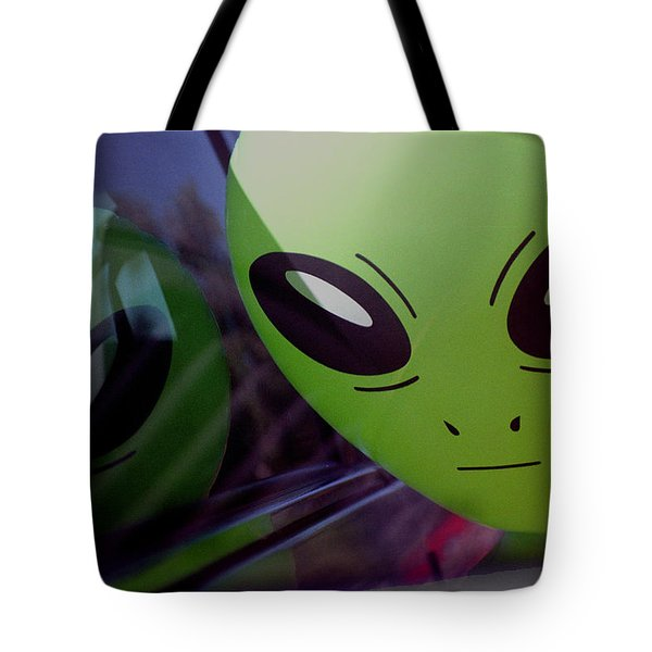 Alien Is Closer Than He Appears Tote Bag