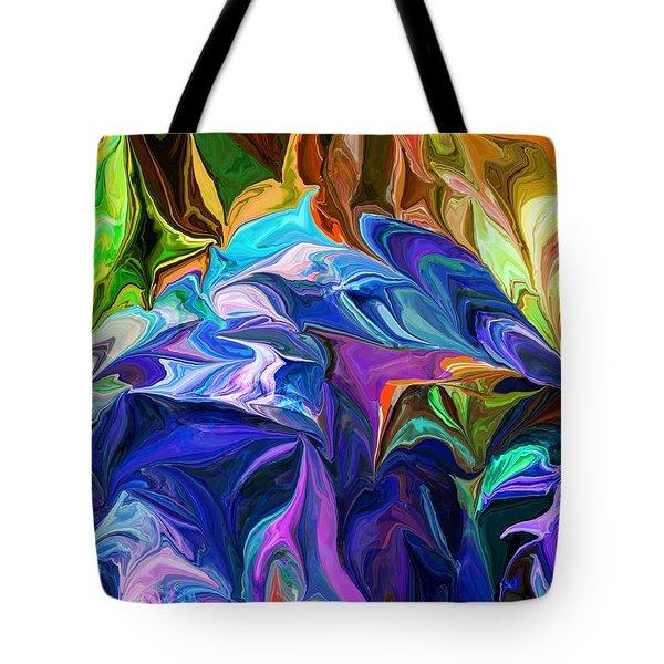Alien Jungle Flora Tote Bag