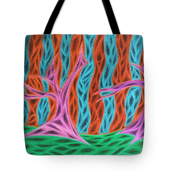 Alien Moon Dance Tote Bag