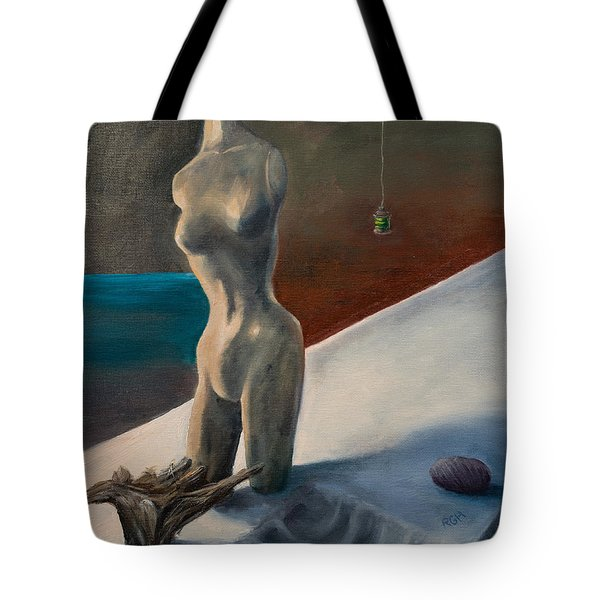 Tote Bag featuring the painting Alien Oceans by Break The Silhouette