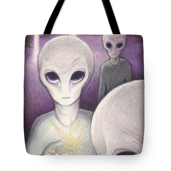 Alien Offering Tote Bag by Amy S Turner