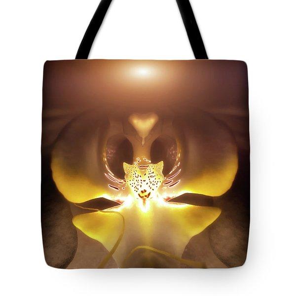 Alien Orchid Tote Bag by Wim Lanclus
