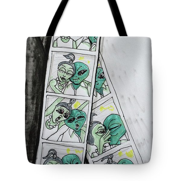 alien Photo Booth  Tote Bag
