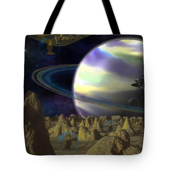 Alien Repose Tote Bag