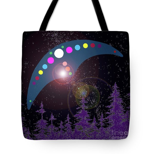 Tote Bag featuring the painting Alien Skies by James Williamson