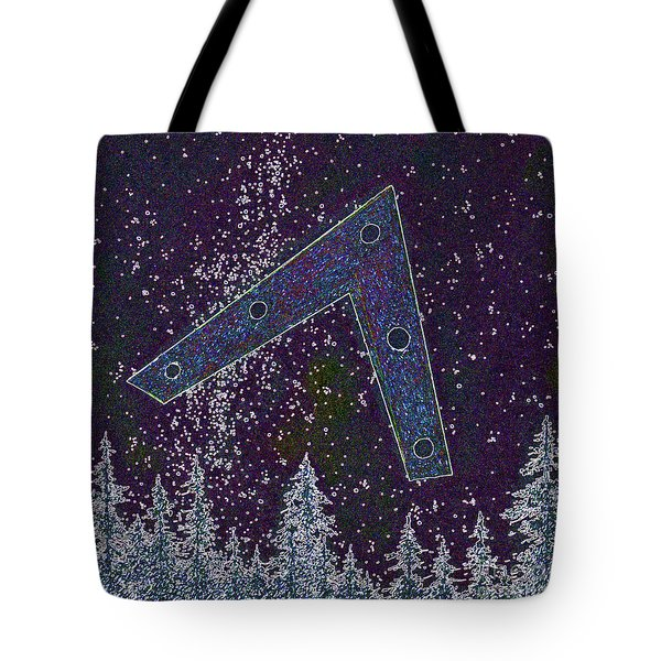Tote Bag featuring the painting Alien Skies Ufo by James Williamson