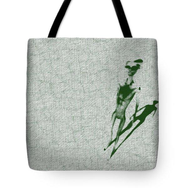 Alien Standing Tote Bag