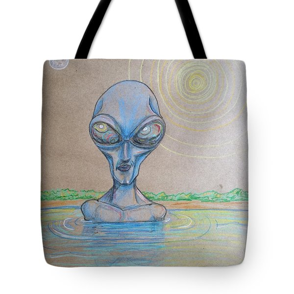 Alien Submerged Tote Bag