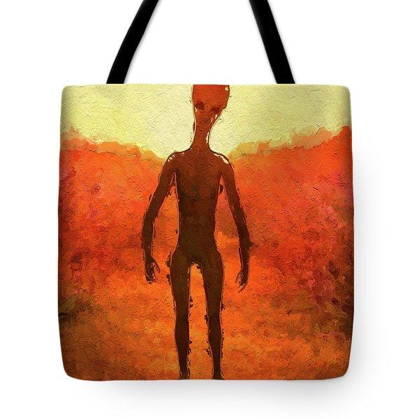 Alien Summer Tote Bag