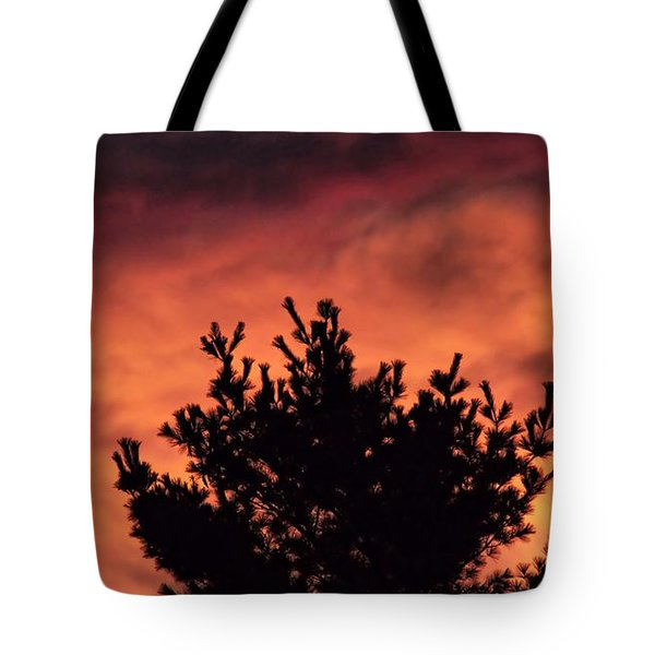 Tote Bag featuring the photograph Alien Sunset by Kenny Glotfelty