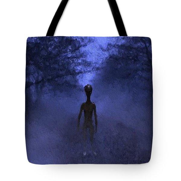 Alien Twilight Tote Bag
