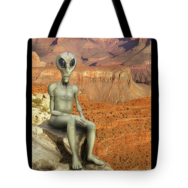 Alien Vacation - Grand Canyon Tote Bag by Mike McGlothlen