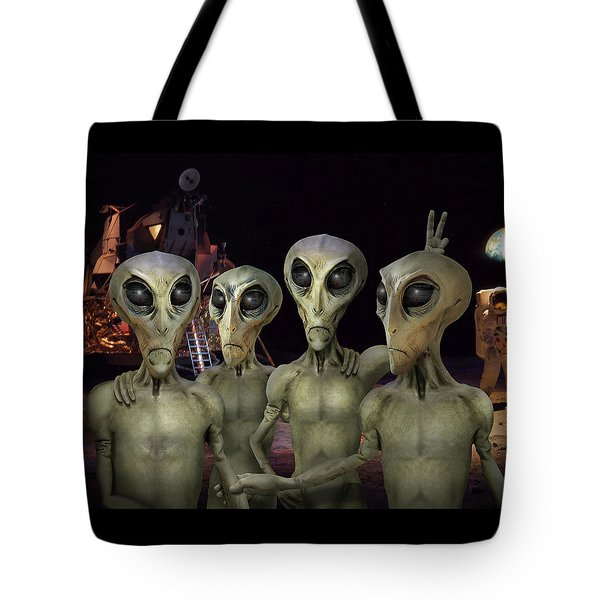 Alien Vacation - Kennedy Space Center Tote Bag by Mike McGlothlen
