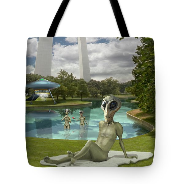 Alien Vacation - St. Louis Tote Bag by Mike McGlothlen