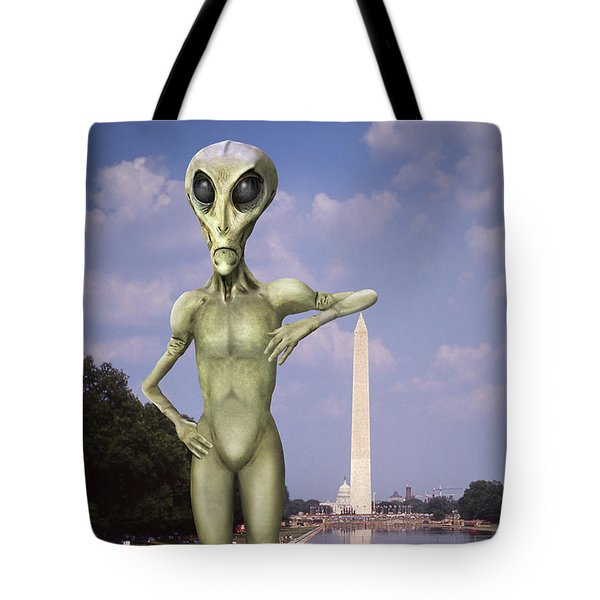 Alien Vacation - Washington D C Tote Bag by Mike McGlothlen
