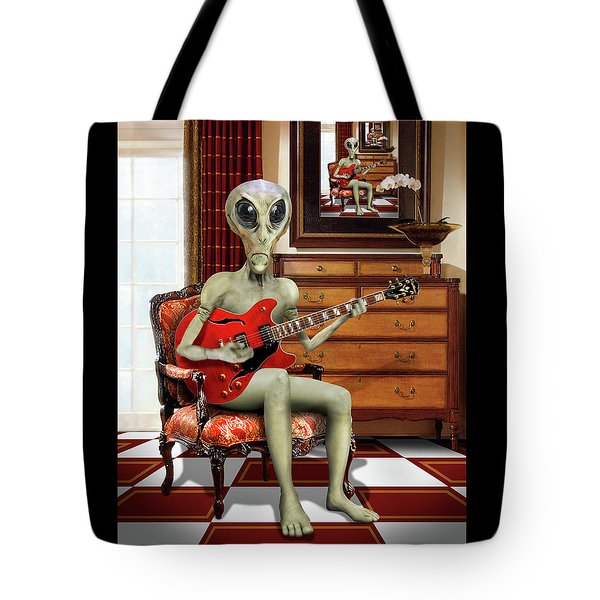 Alien Vacation - We Roll With Jazz Tote Bag by Mike McGlothlen
