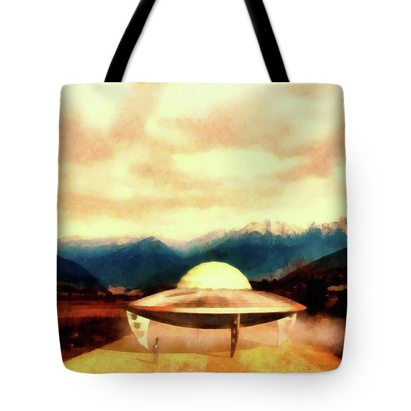 Alien With Craft Tote Bag