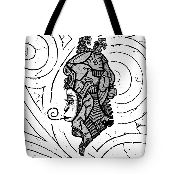 Alien Woman Tote Bag