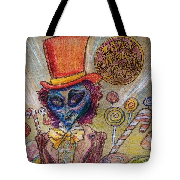 Alien Wonka And The Chocolate Factory Tote Bag