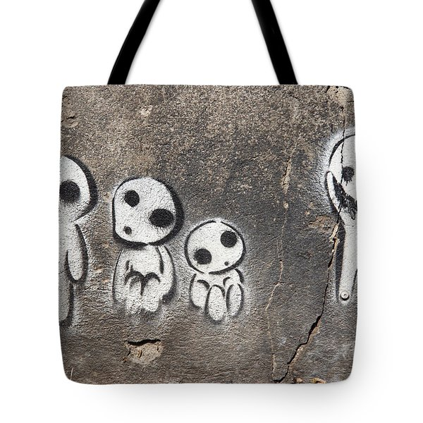 Aliens Tote Bag by Michal Boubin