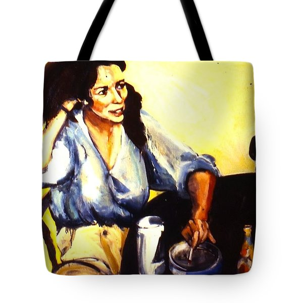 Tote Bag featuring the painting Aliet by Les Leffingwell