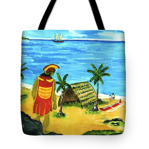 Alihi Hawaiian For Chief #57 Tote Bag by Donald k Hall