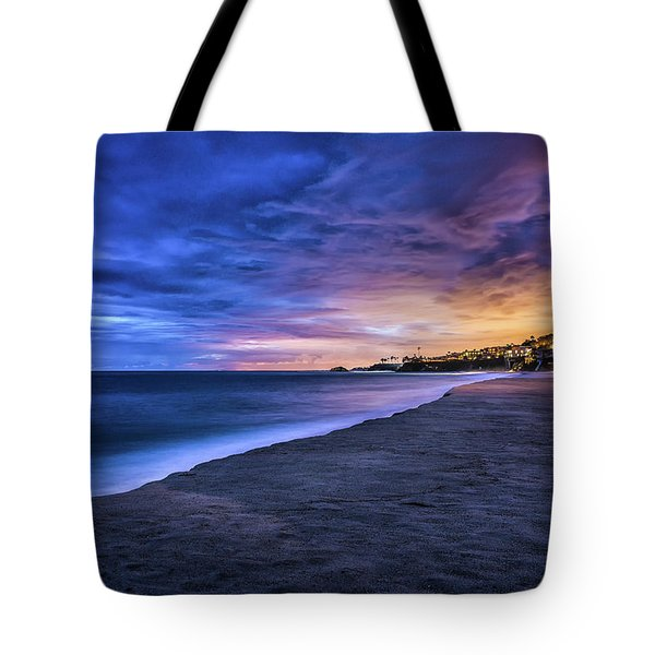 Tote Bag featuring the photograph Aliso Beach Lights by Jason Roberts