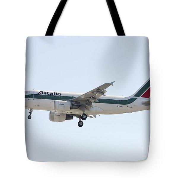 Alitalia Airbus A319 Tote Bag