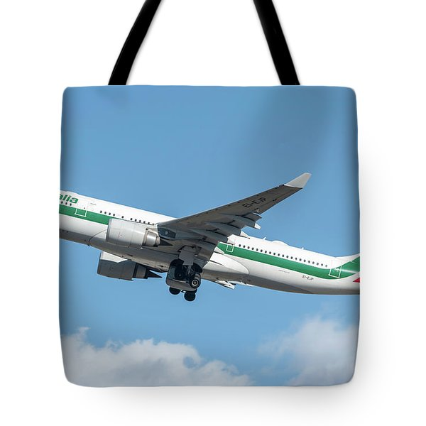 Alitalia Airbus A330-200 Departed From Milano Malpensa Tote Bag