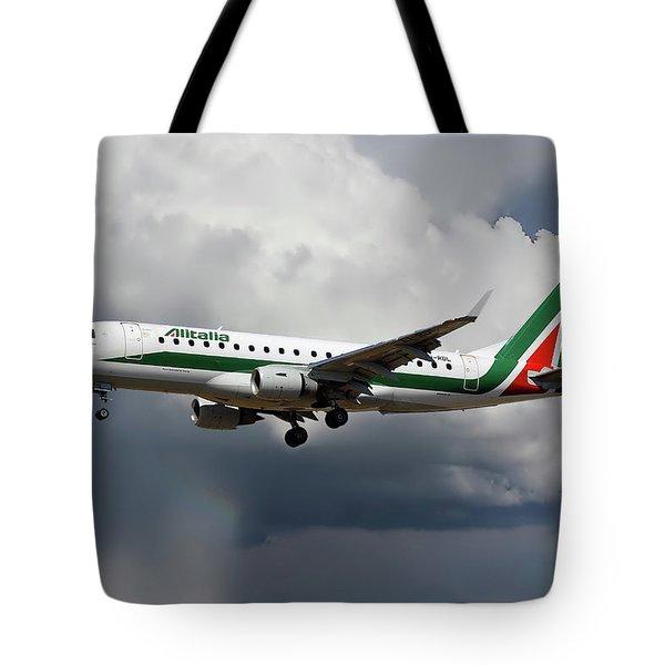 Alitalia Embraer Erj-175std Tote Bag